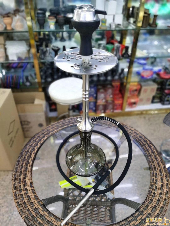 俄罗斯不锈钢单嘴阿拉伯水烟壶整体高度75厘米