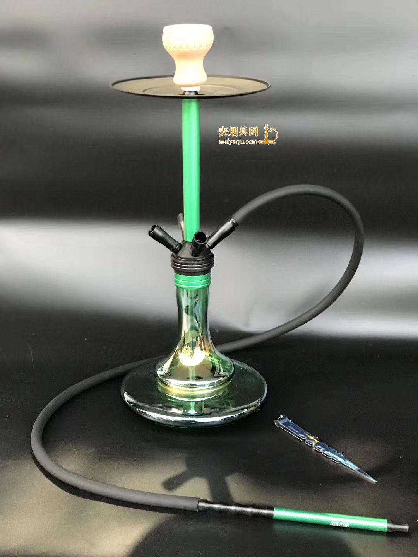 大号时尚绿铝合金阿拉伯水烟壶1234管75厘米高HJ006