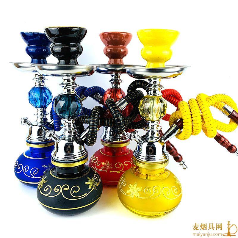 单管小号亚克力铁件阿拉伯水烟壶图片价格批发多少钱