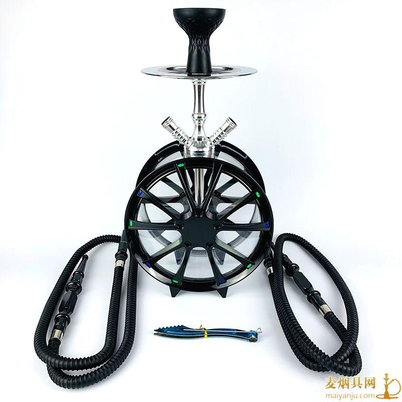 双管轮胎款亚克力水烟壶图片价格批发多少钱
