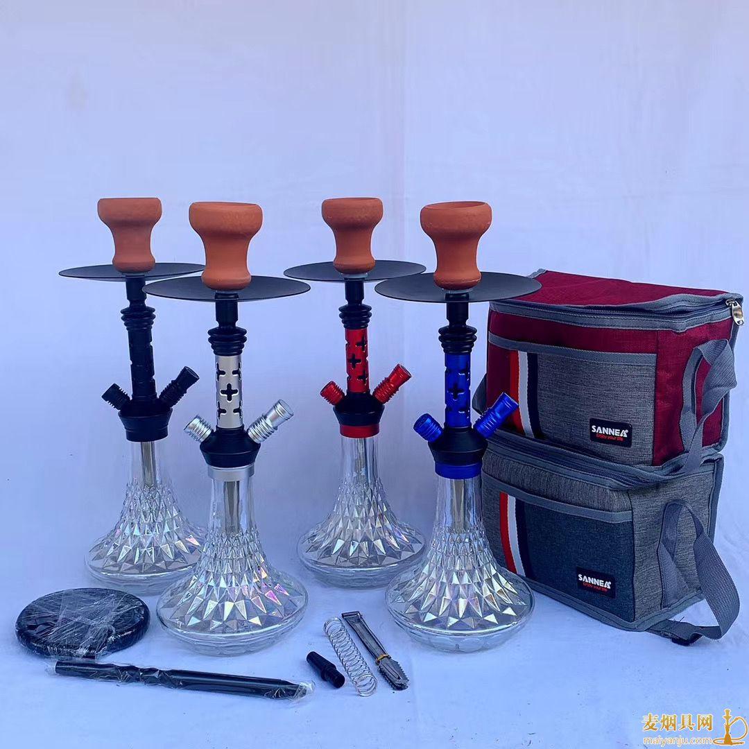 中号单嘴铝合金阿拉伯水烟壶45厘米高图片及价格