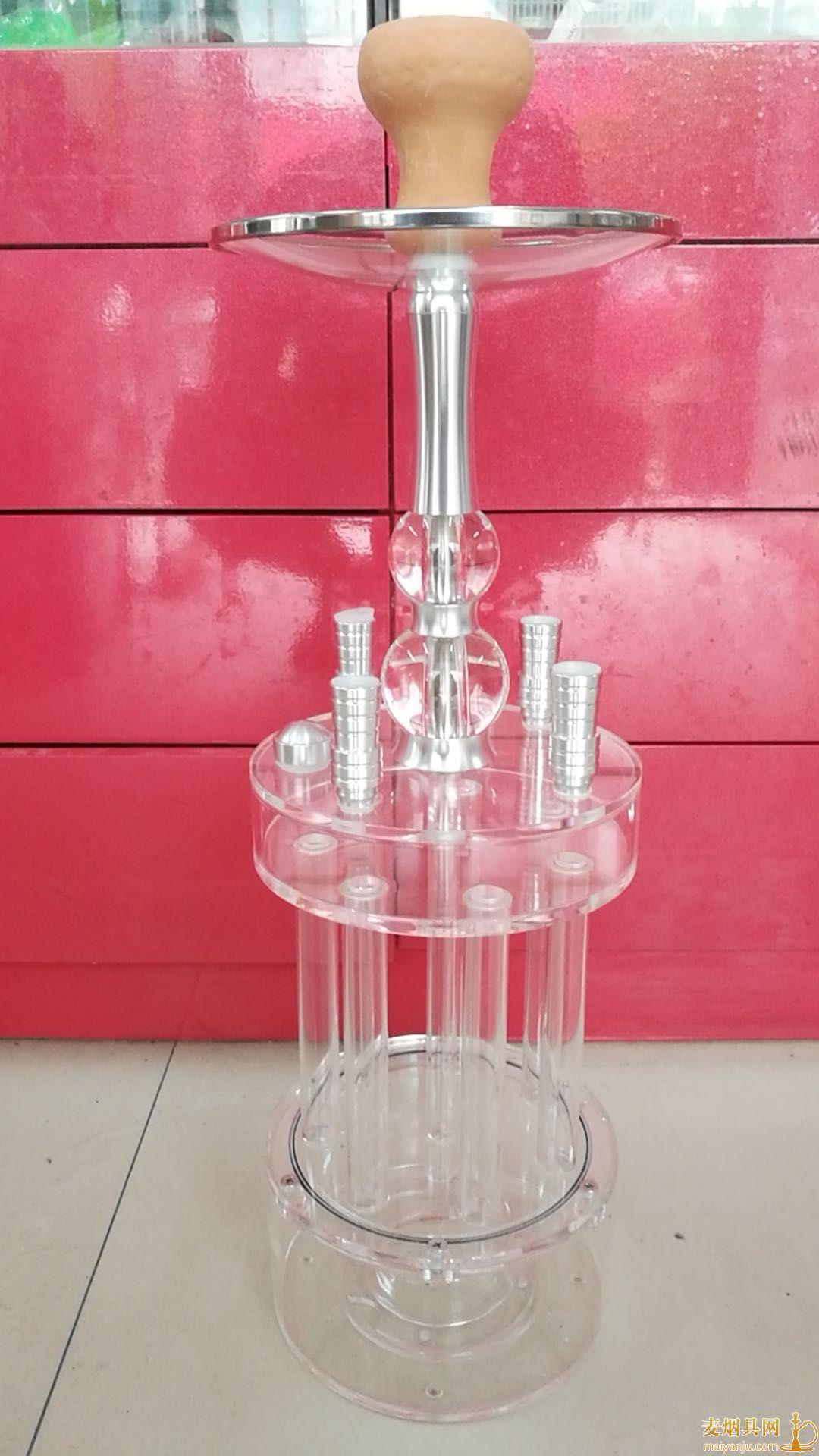 新款加特林酒吧带灯四嘴阿拉伯水烟壶实拍图