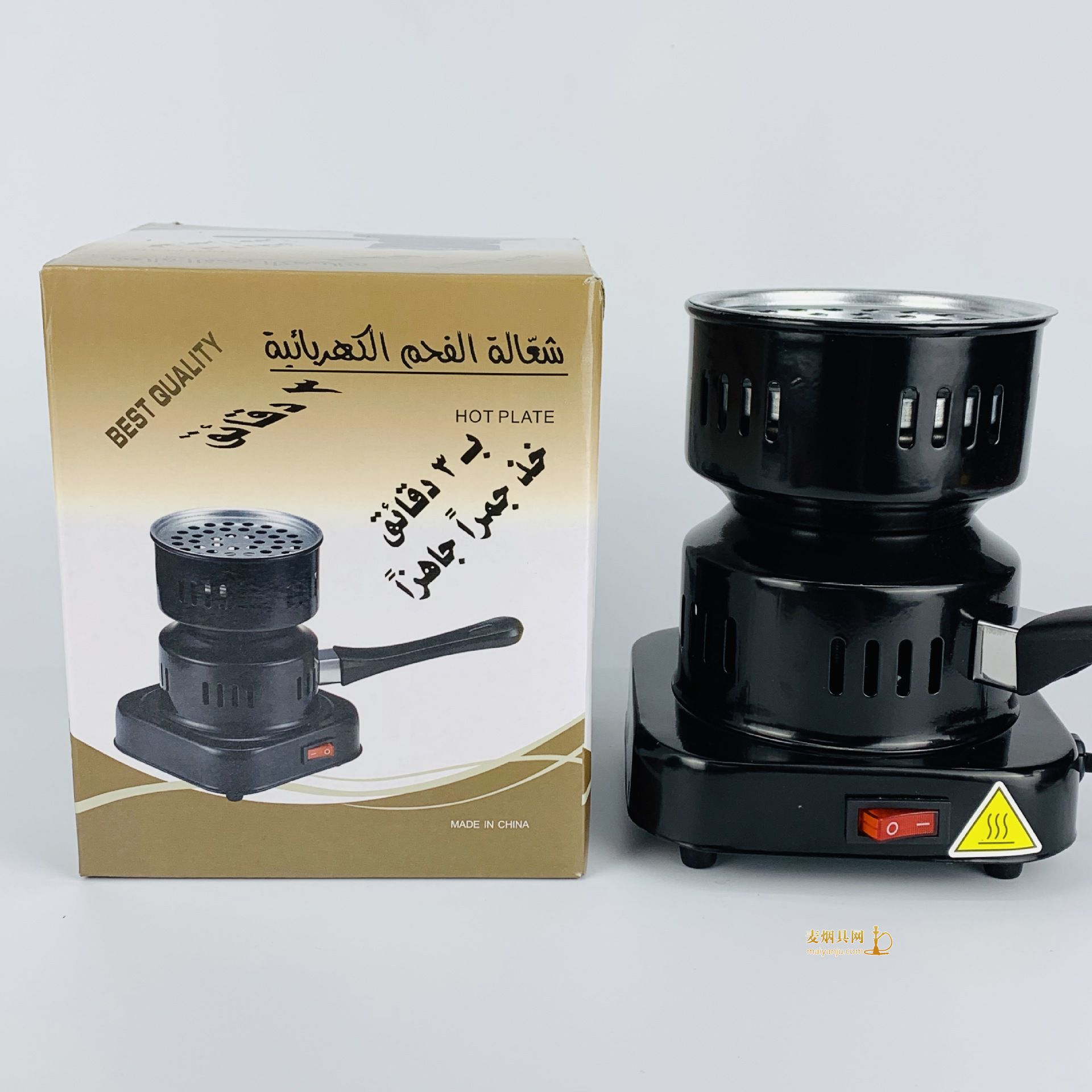 阿拉伯水烟碳炉子椰壳炭点碳炉子图片