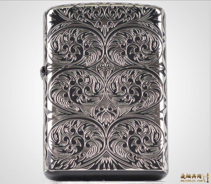 正品ZIPPO打火机 2012新款5面 银阿拉伯图 对花 批发
