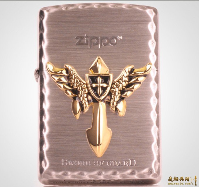 正品ZIPPO火机 2013新款 镀银 十字护剑 SWORD OF GUARD