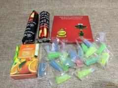 一盒水果口味烟阿尔法赫50克 一盒锡纸 2条碳 20个烟嘴 套餐40元