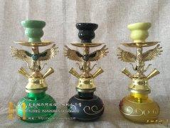 小号锌合金阿拉伯水烟壶25厘米高双人老鹰小鸟阿拉灯水烟壶