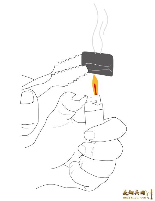 阿尔法赫原装玻璃水烟壶的结构